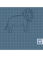About Blue Fabrics Lion Grid - French Terry