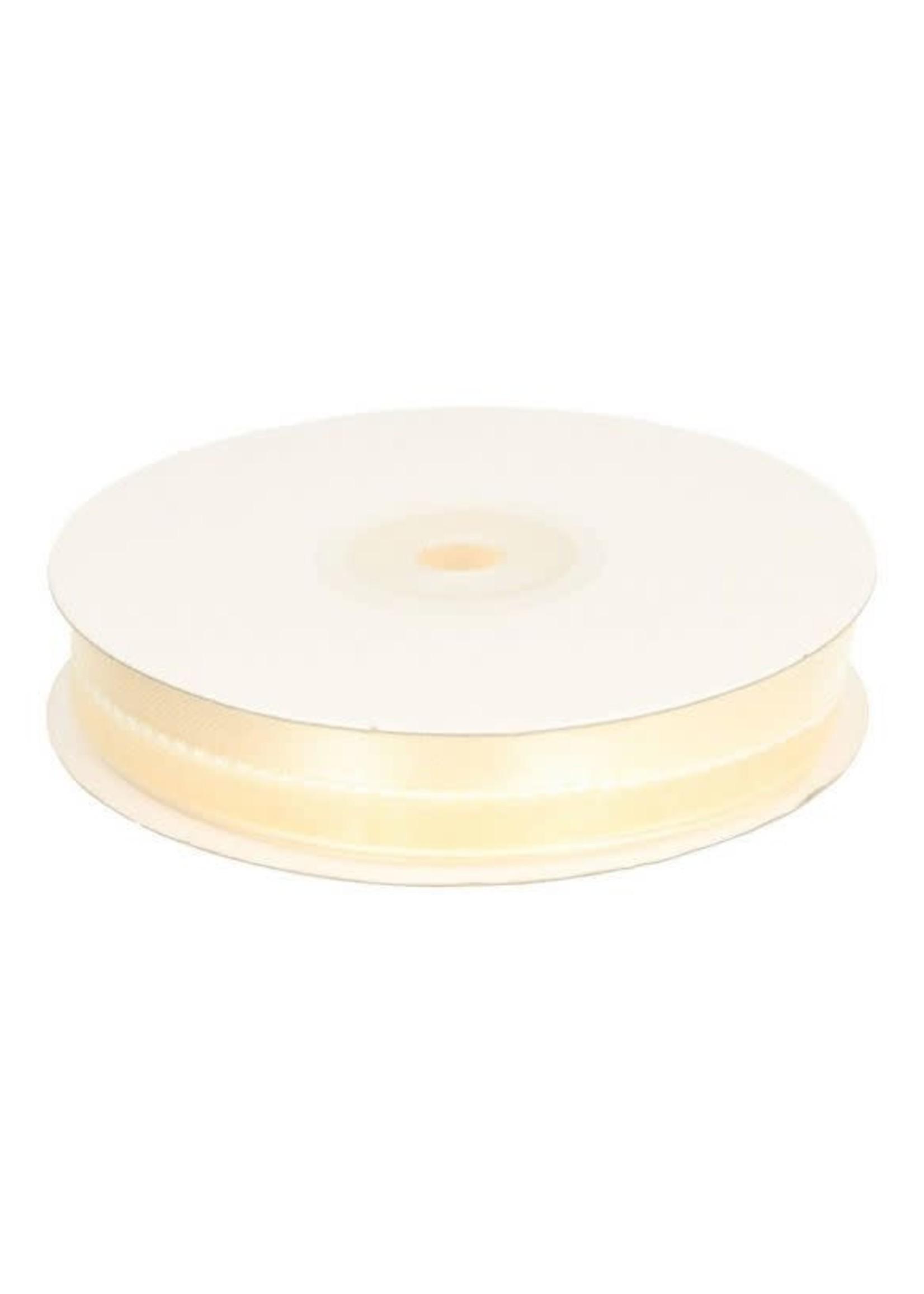Organza satijnband 16mm - crème