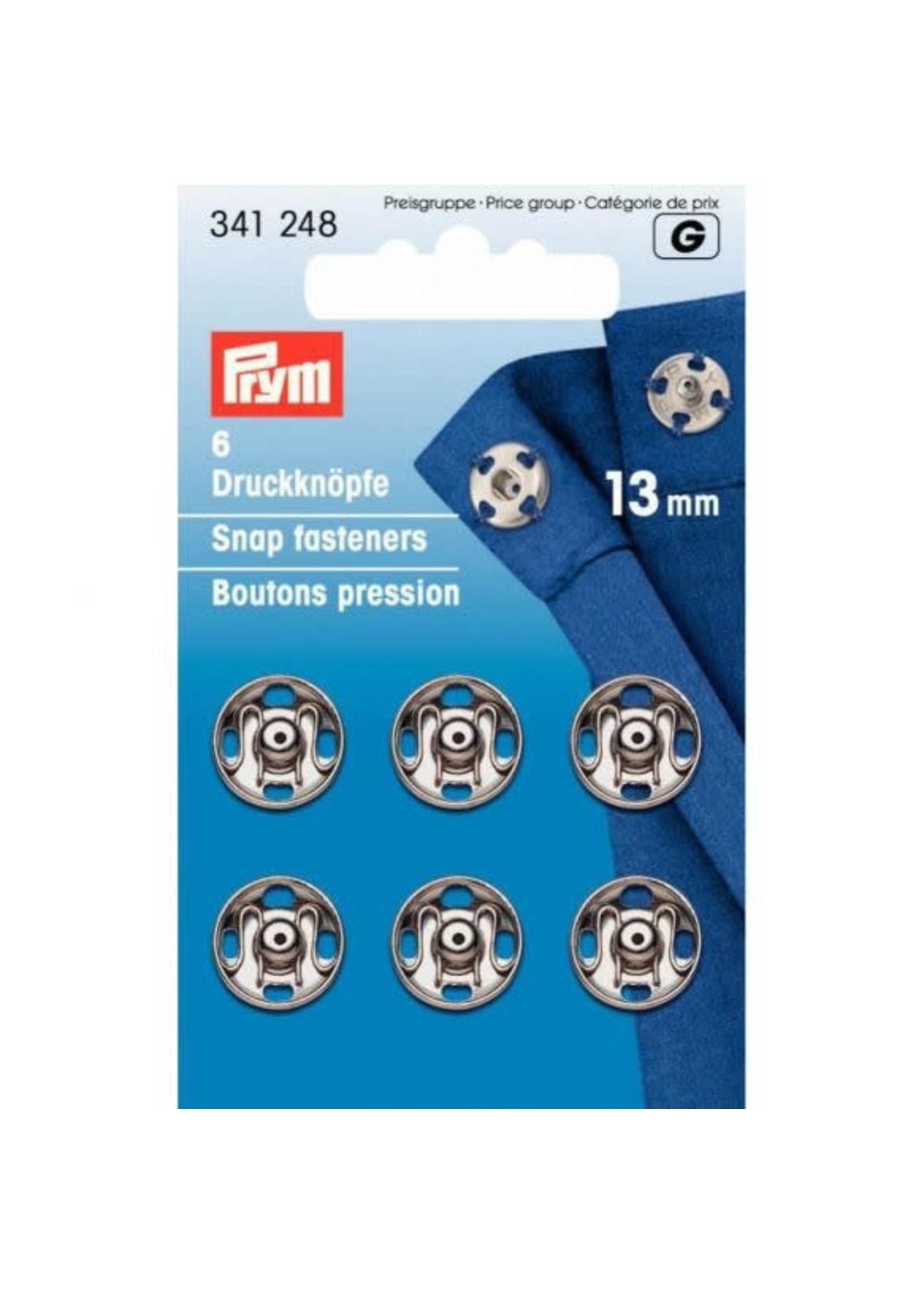 Prym Prym Aannaaidrukknoop 13mm - zilver