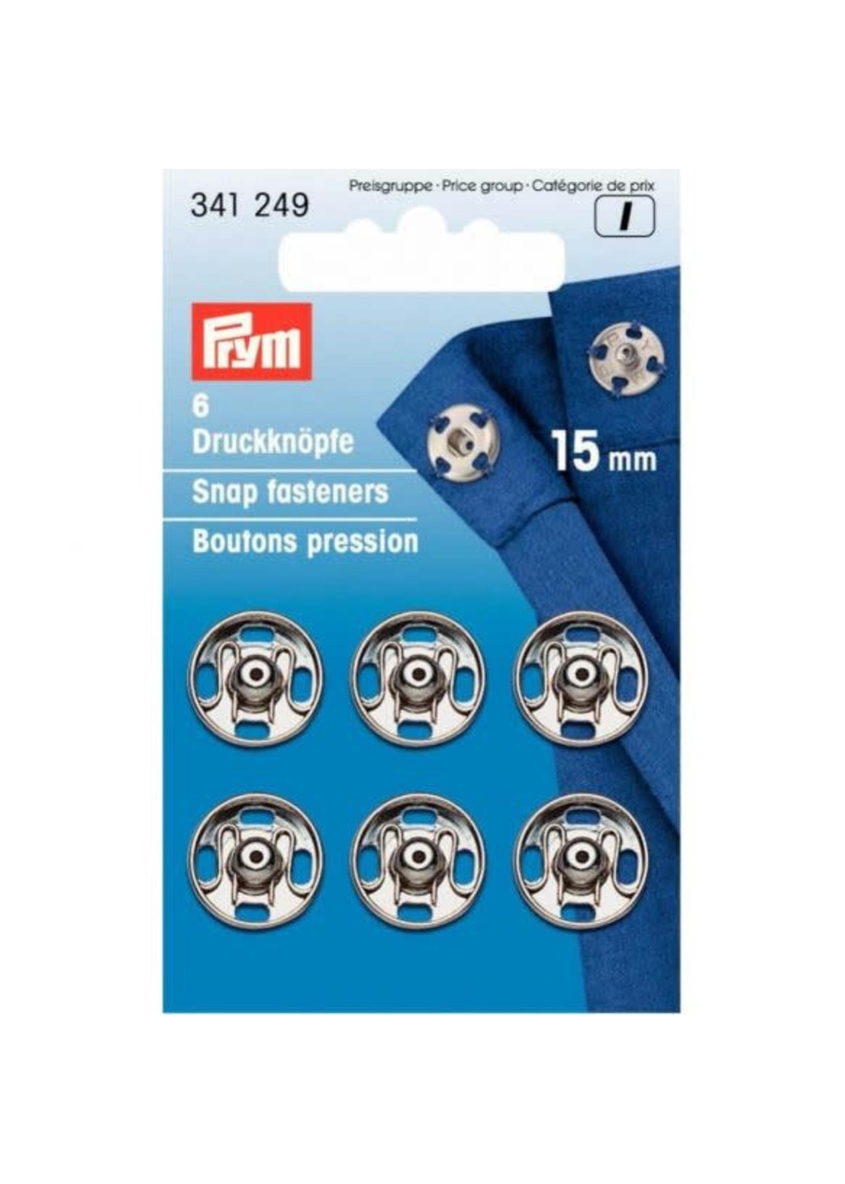 Prym Prym Aannaaidrukknoop 15mm - zilver