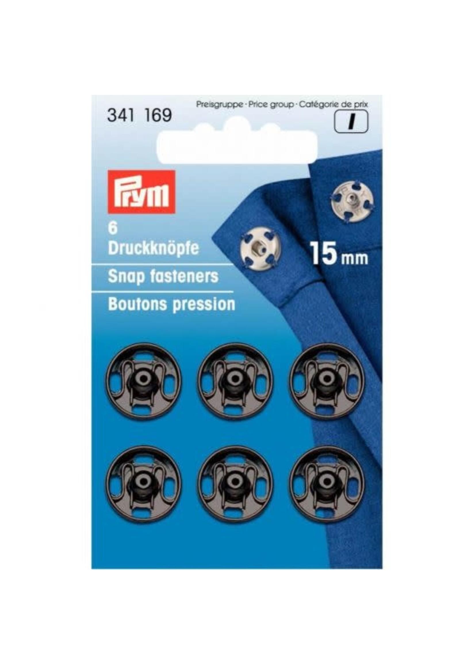 Prym Prym Aannaaidrukknoop 15mm - zwart