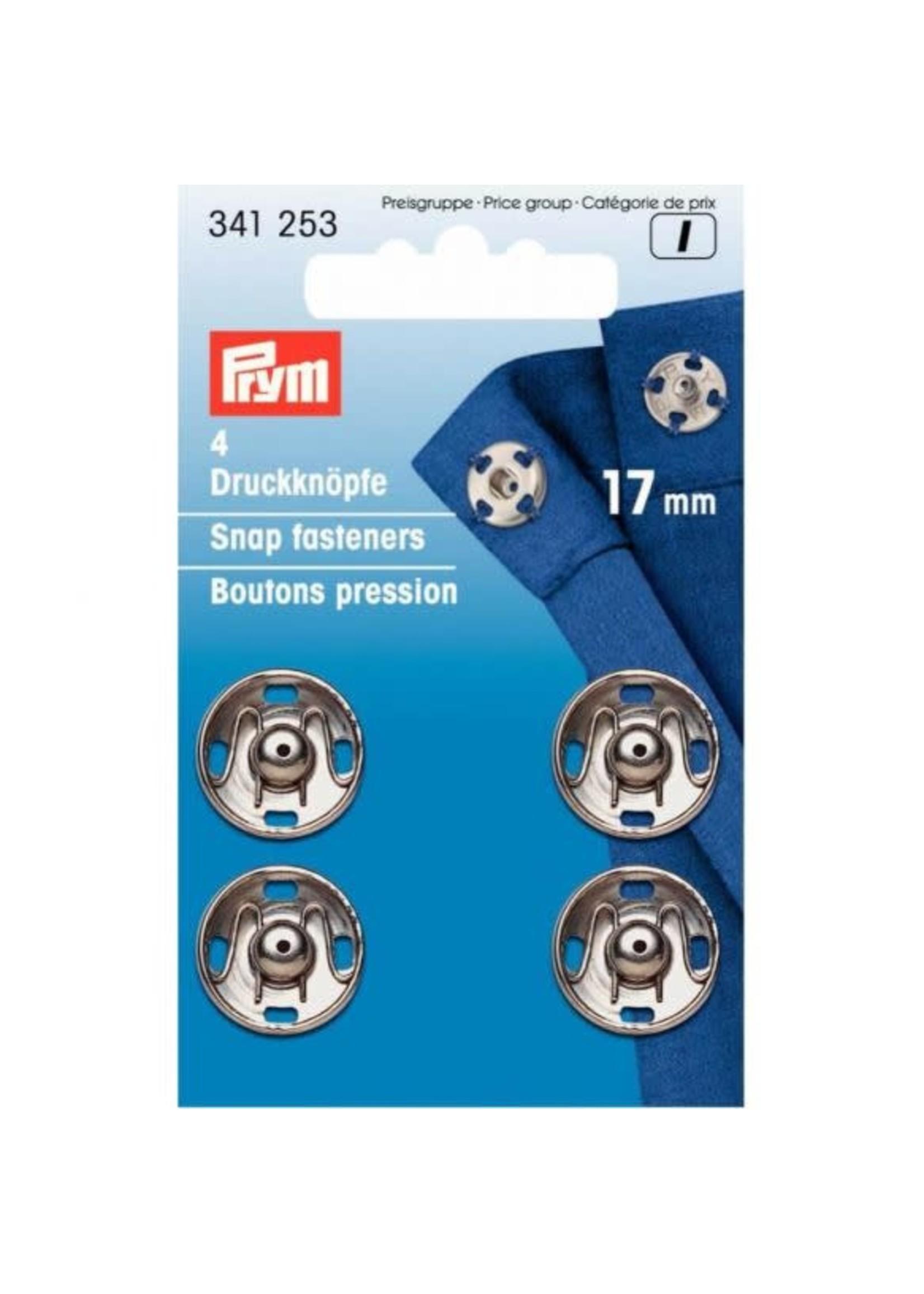 Prym Prym Aannaaidrukknoop 17mm - zilver