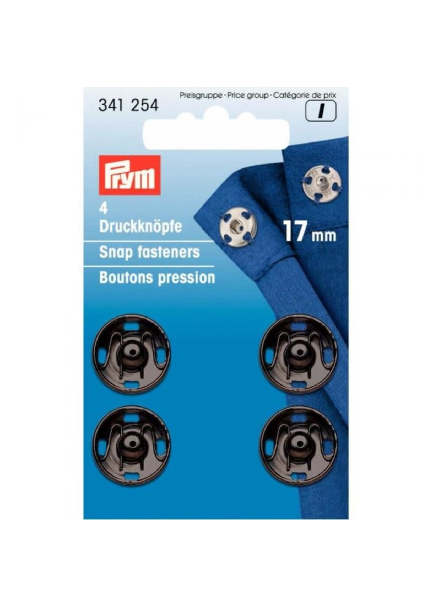 Prym Prym Aannaaidrukknoop 17mm - zwart