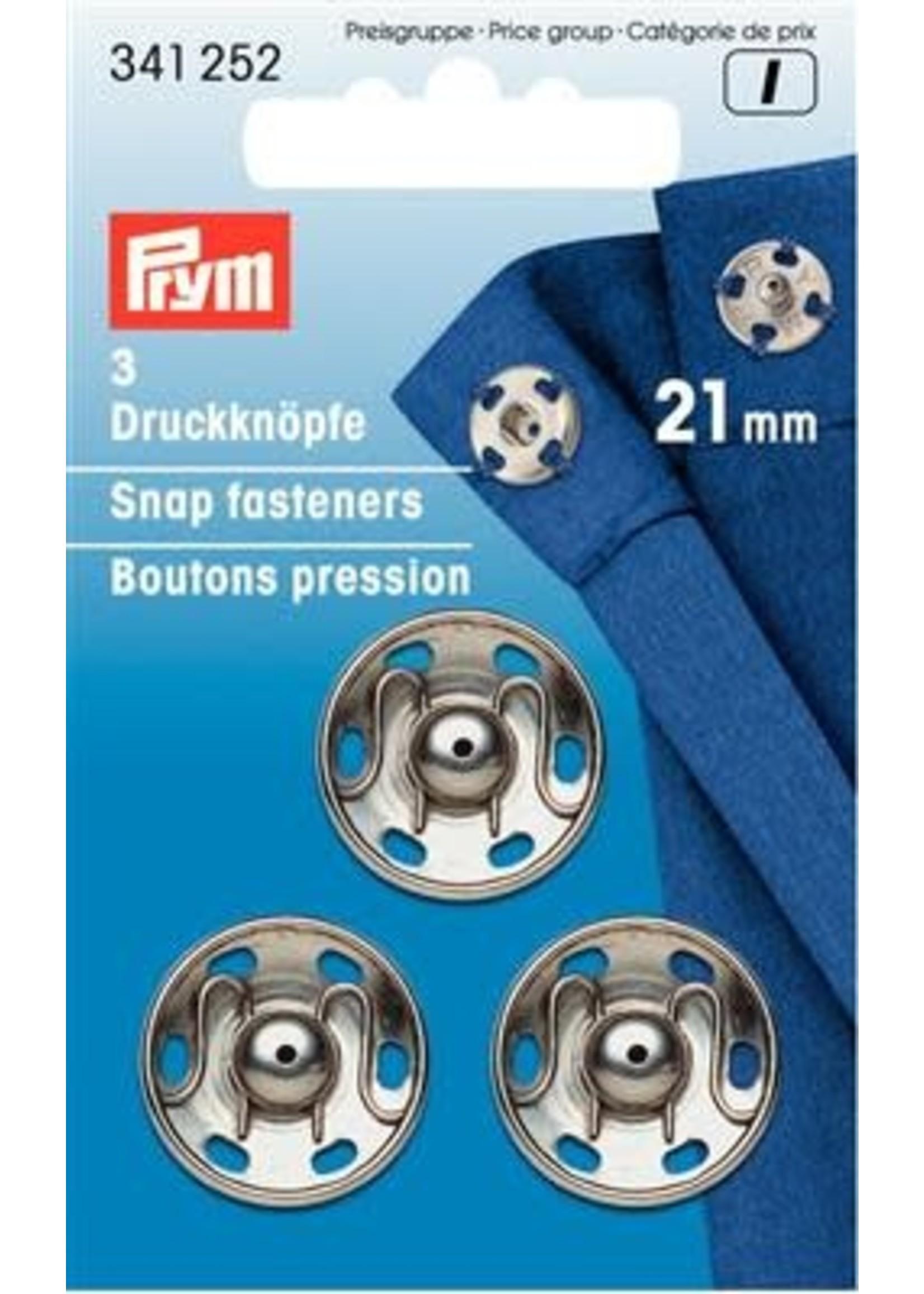 Prym Prym Aannaaidrukknopen 21mm - zilver