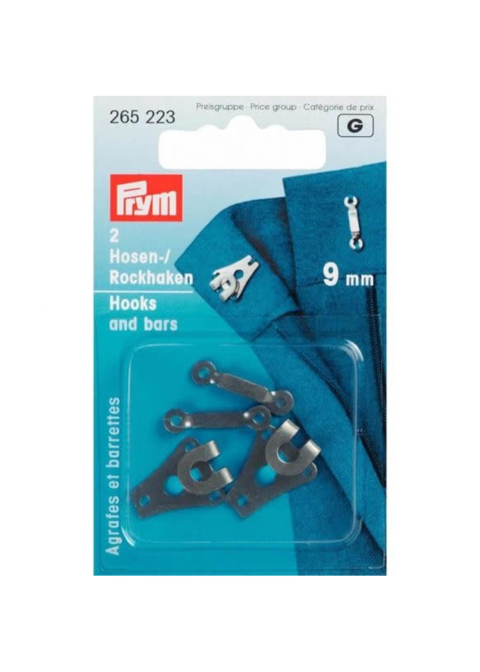 Prym Prym Broek- en Rokhaken met staven 9mm - zwart