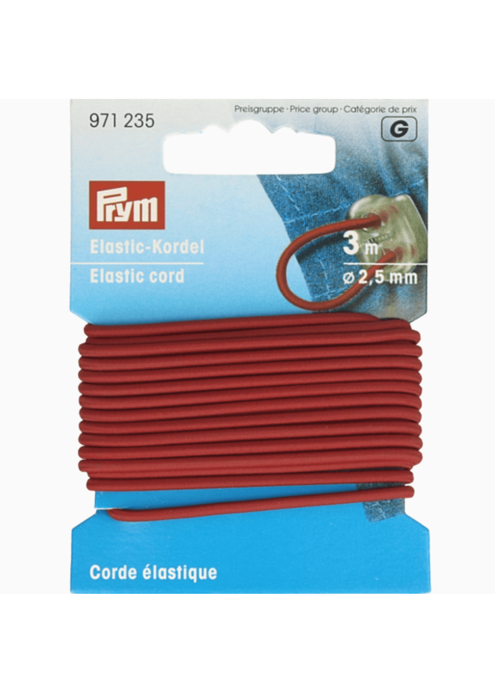 Prym Prym Elastisch Koord 2.5mm - rood