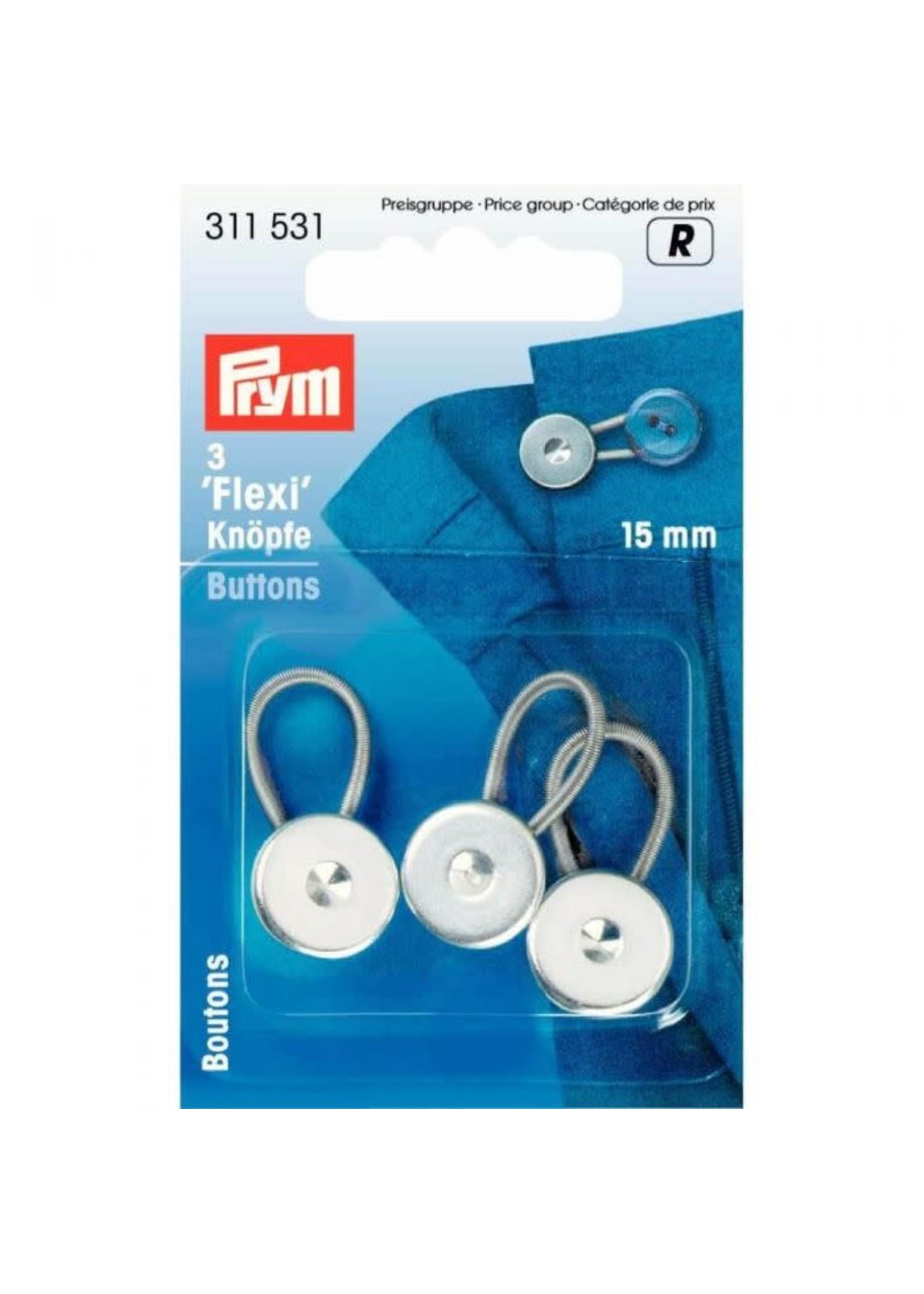 Prym Prym Flexi-knopen met lus 15mm - zilver
