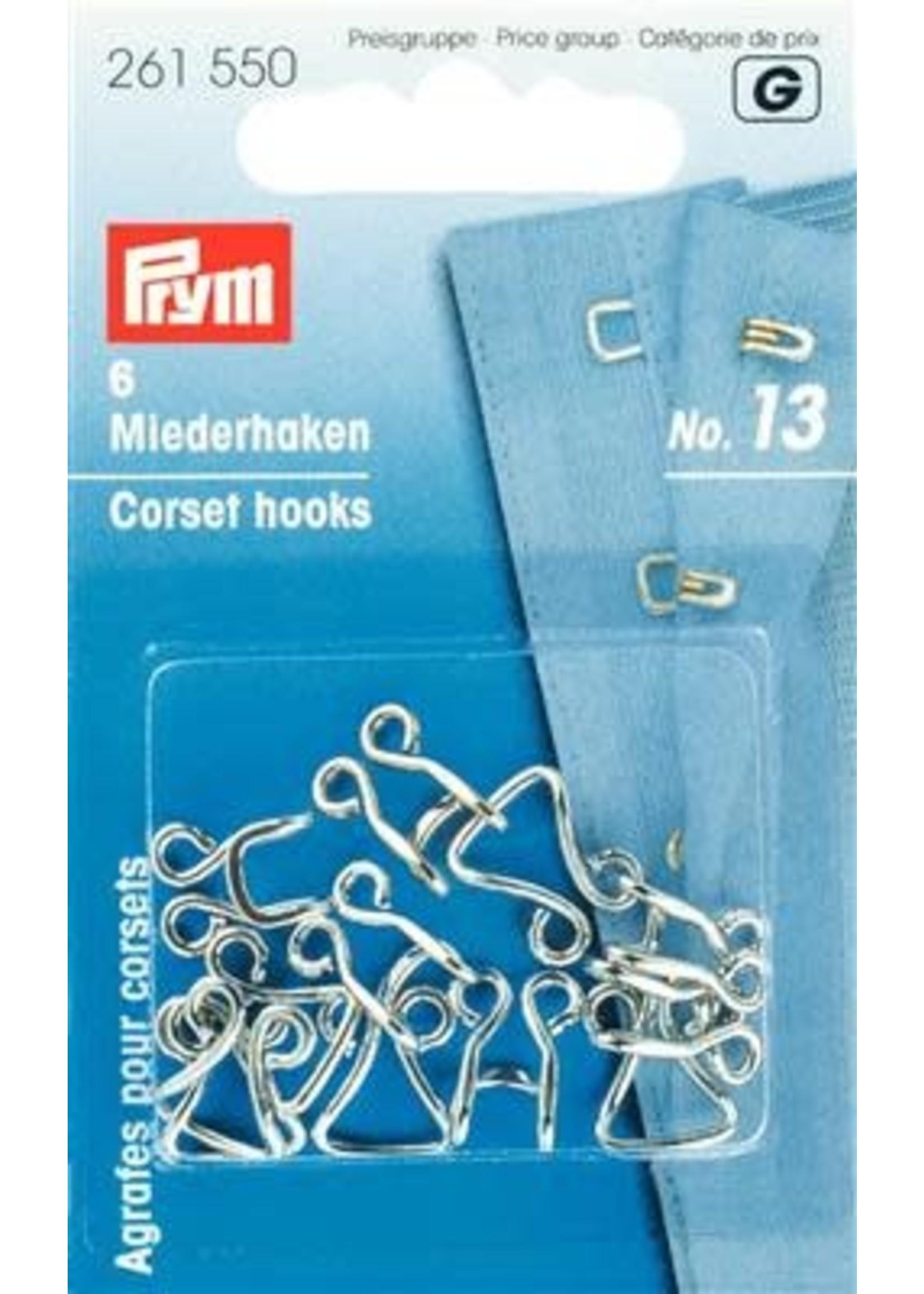 Prym Prym Korsethaken en -ogen Nr 13 - zilver