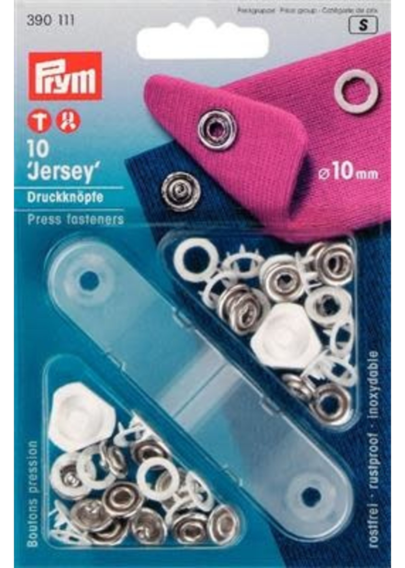 Prym Prym Naaivrijdrukknoop Jersey aandring 10mm - wit