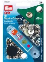 Prym Prym Naaivrijdrukknoop Sport Camping 15mm - zilver