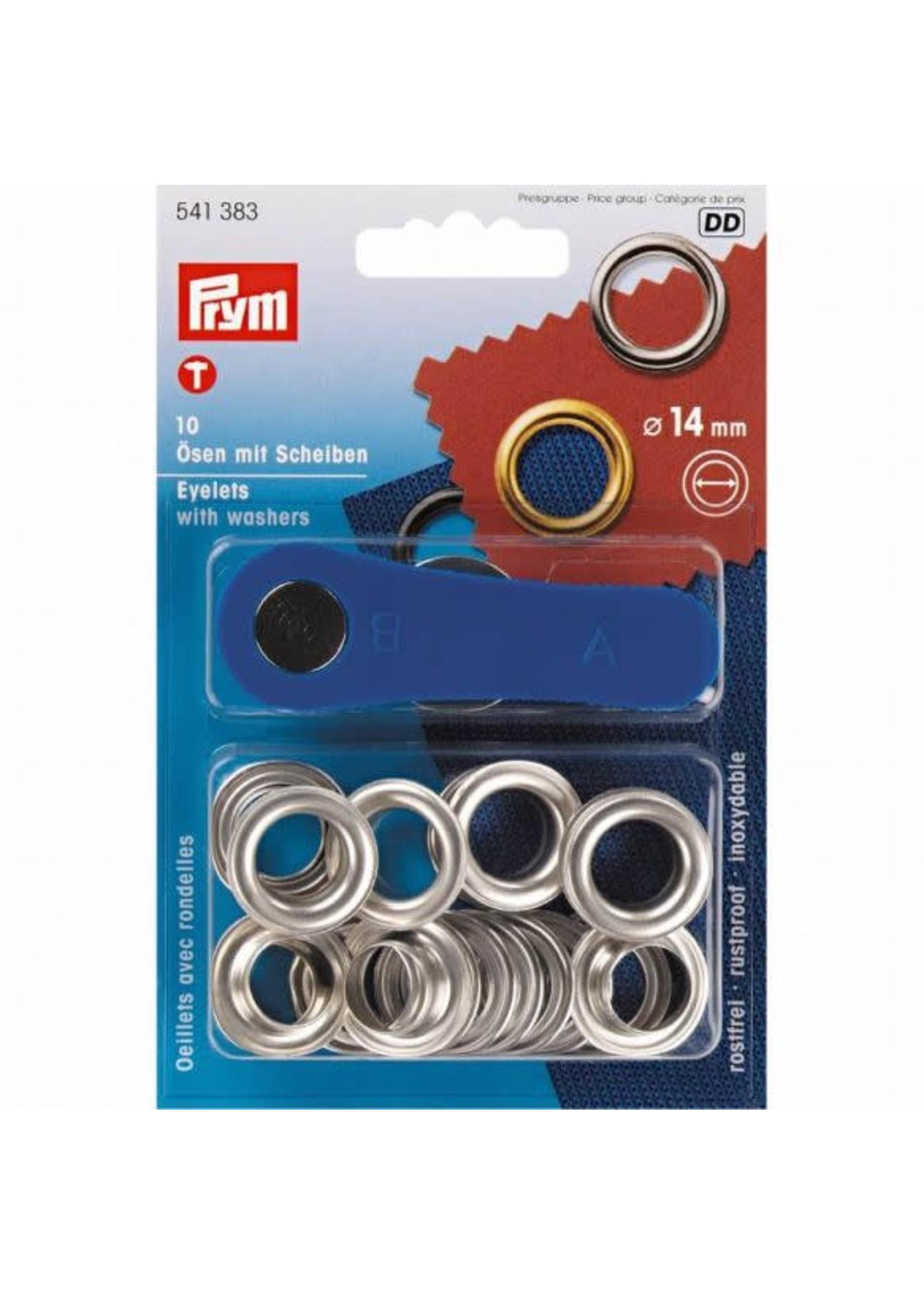 Prym Prym Ringen en schijven 14mm - zilver