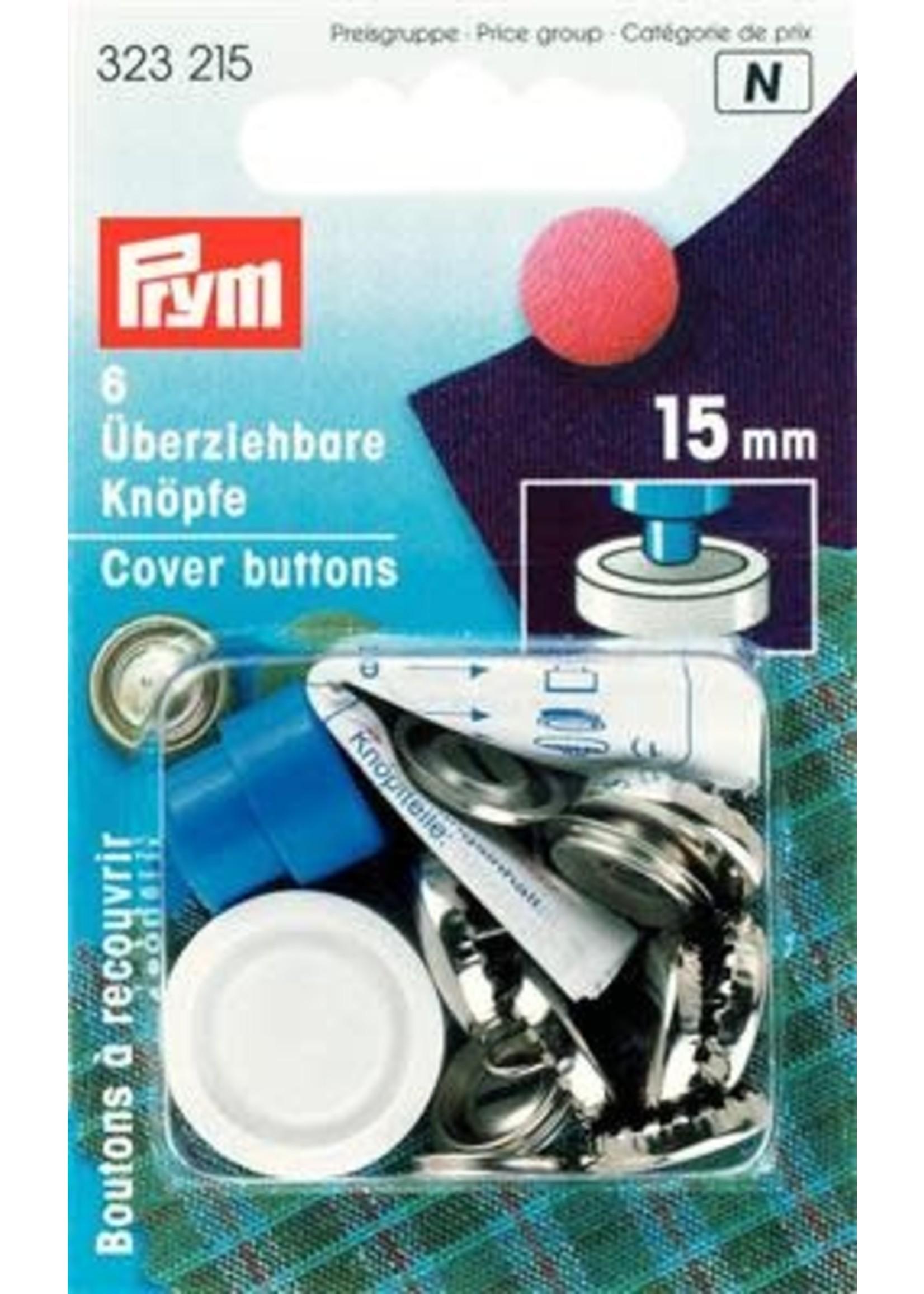 Prym Prym Stofknopen met matrijs 15mm - zilver