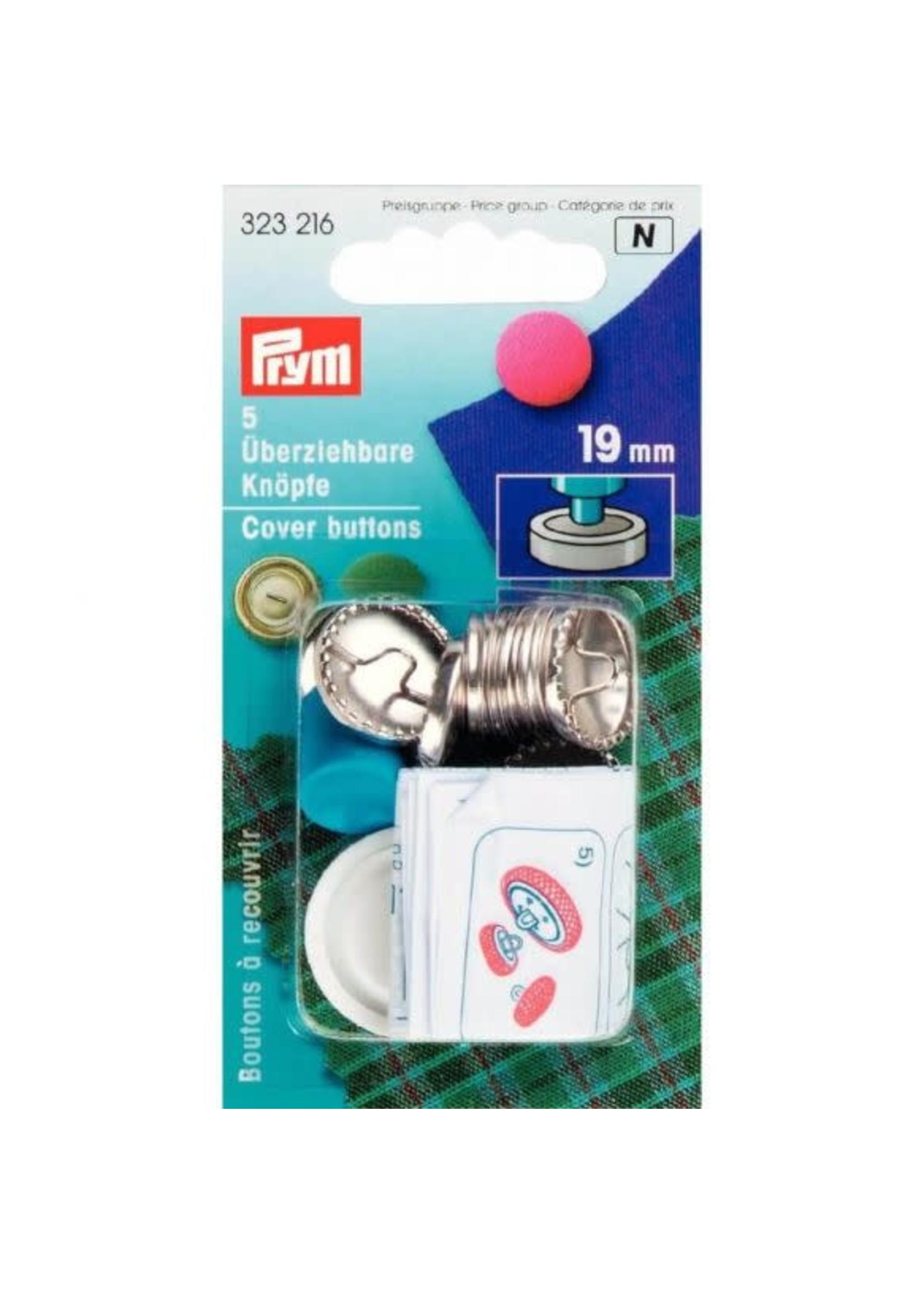 Prym Prym Stofknopen met matrijs 19mm - zilver