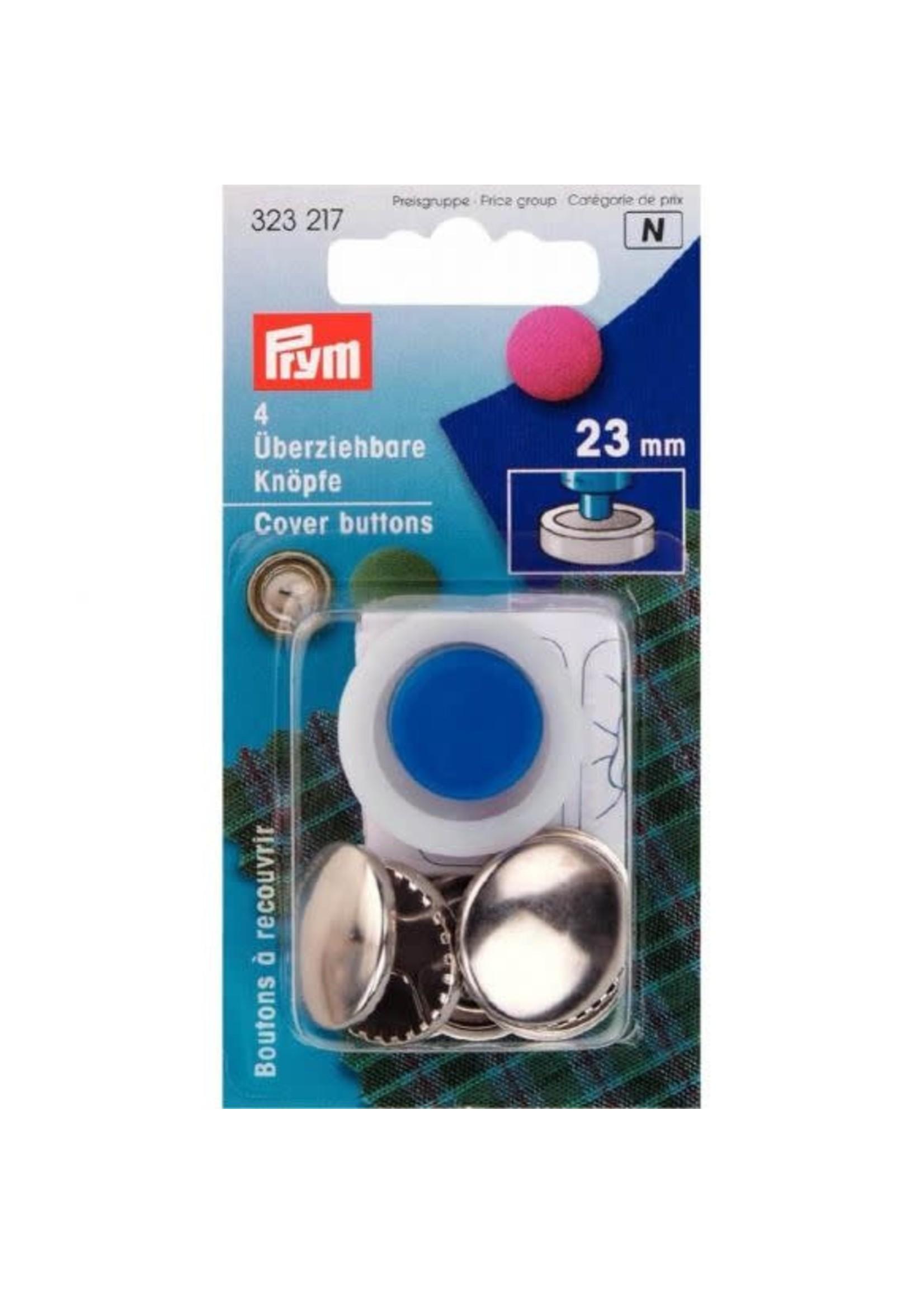 Prym Prym Stofknopen met matrijs 23mm - zilver