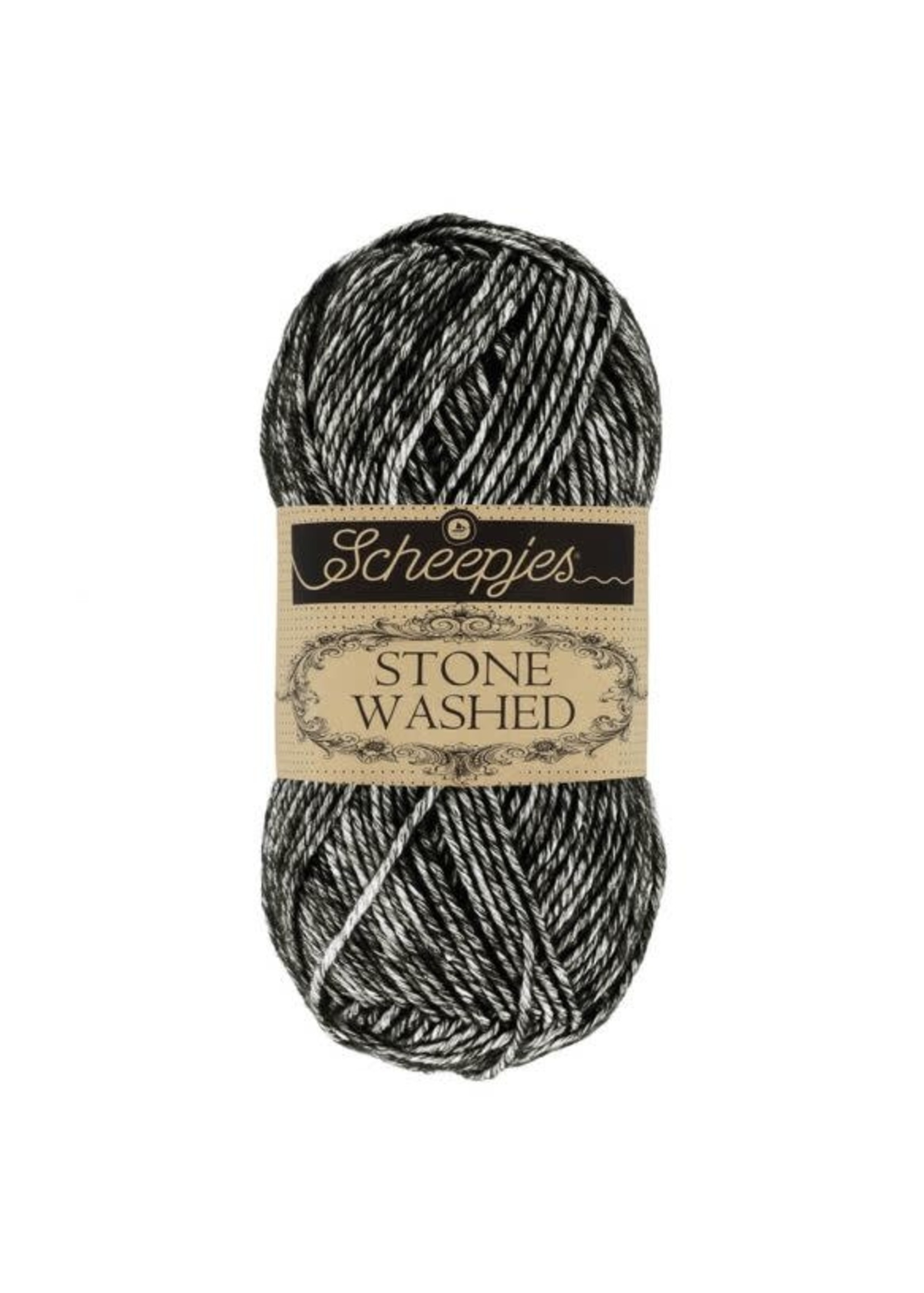 Scheepjes Stone Washed 50gr - 803 Black Onyx
