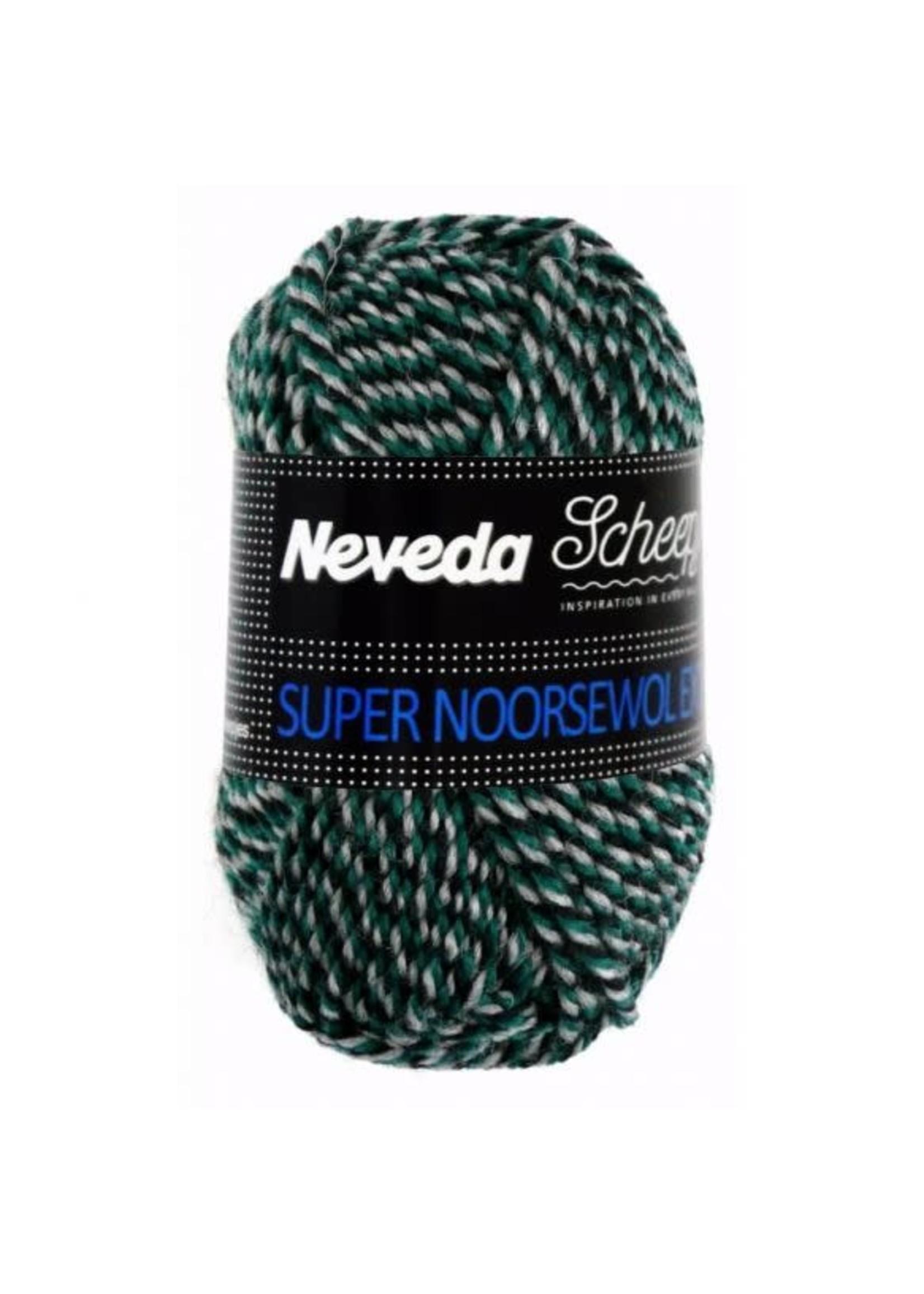 Scheepjes Super Noorse Extra 50gr - 1706 Zwart, groen, grijs
