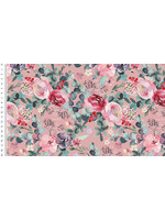 Aquarel Flowers - Viscose - Old Rose