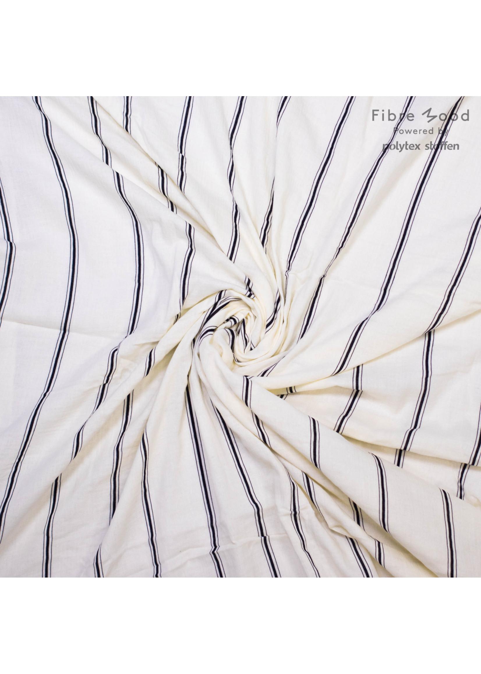Fibre Mood Woven white with black stripes