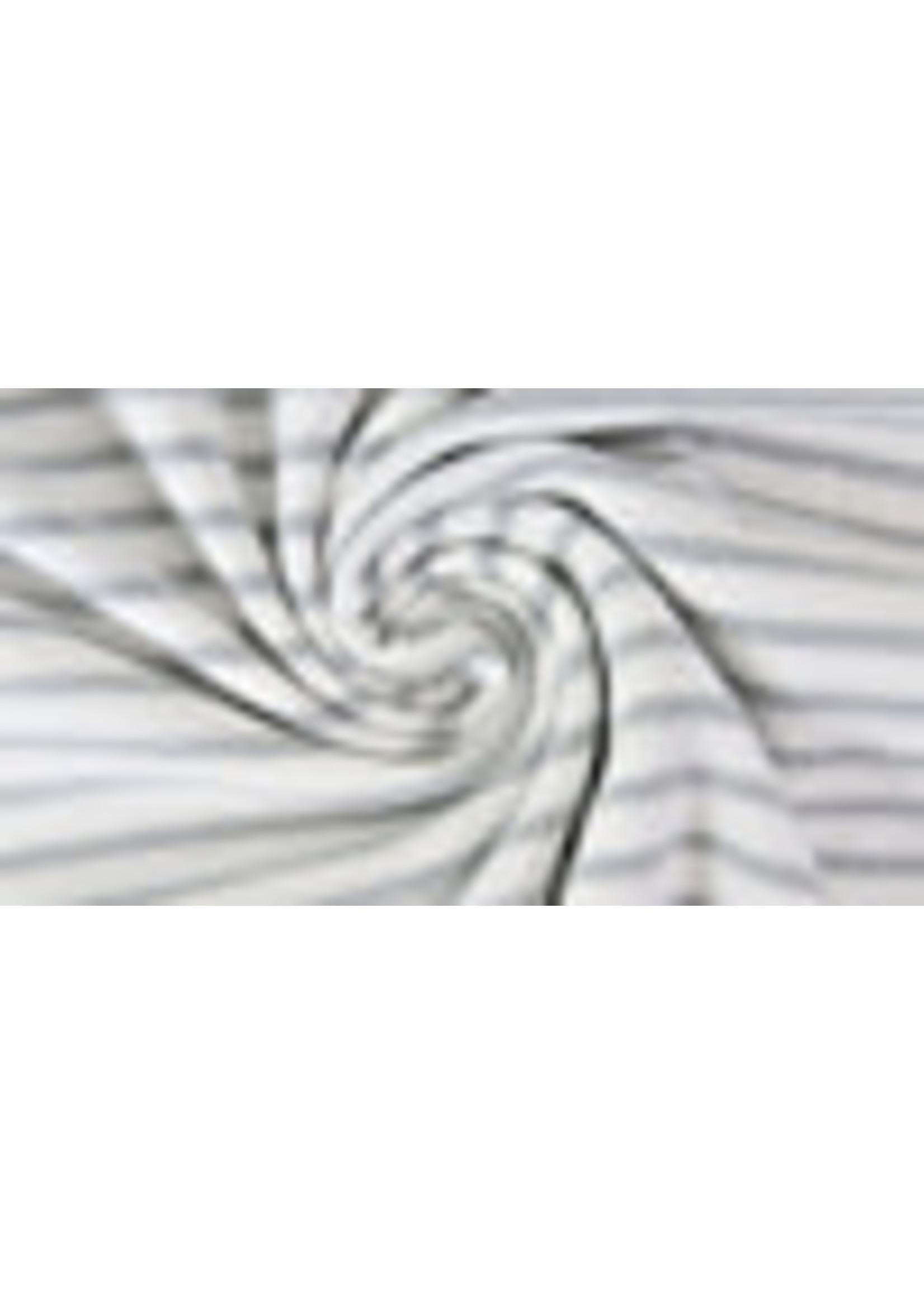 Tricot Stripe Yarn Dyed White - Lightgrey