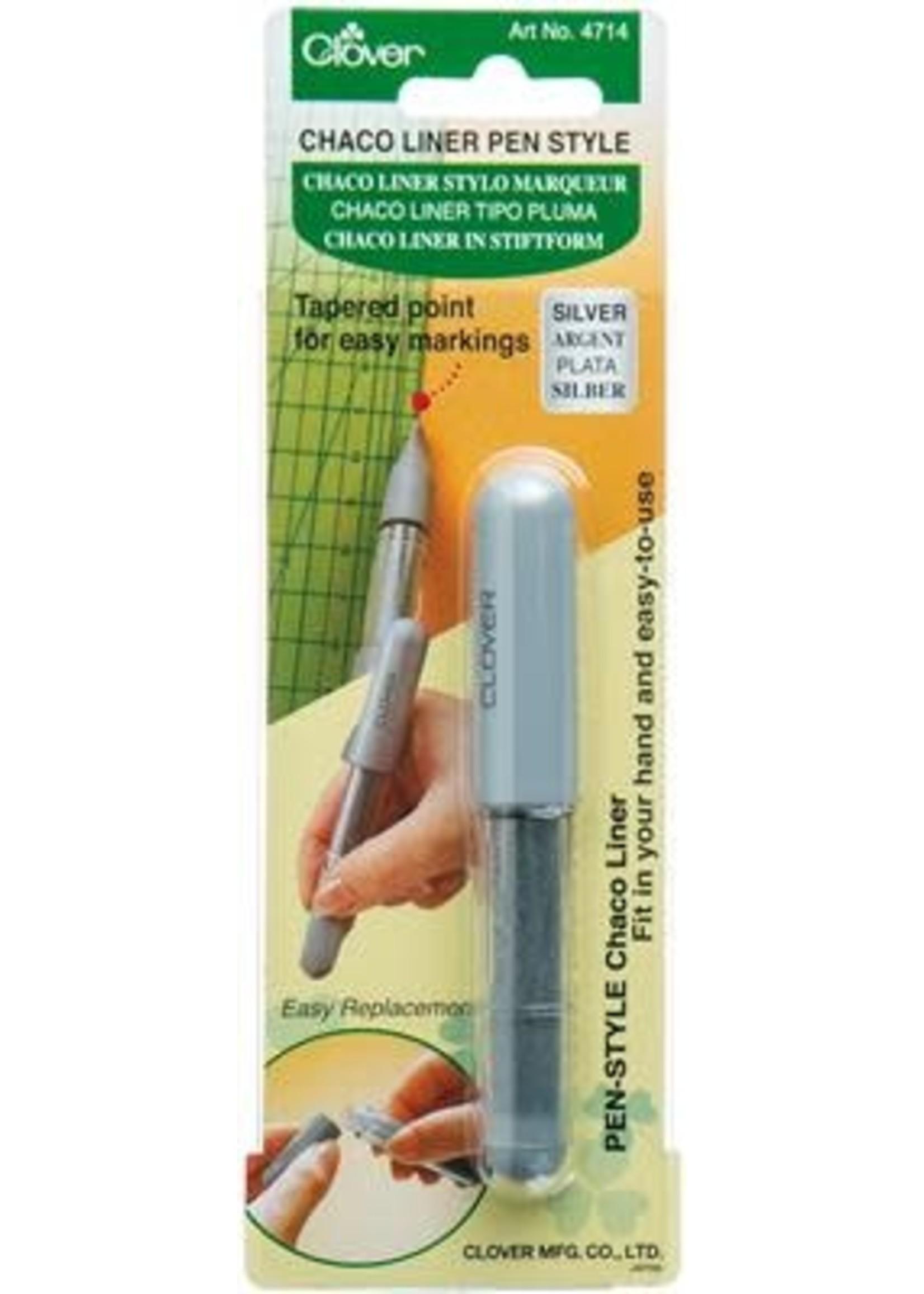 Clover Chaco Liner Pen - Zilver