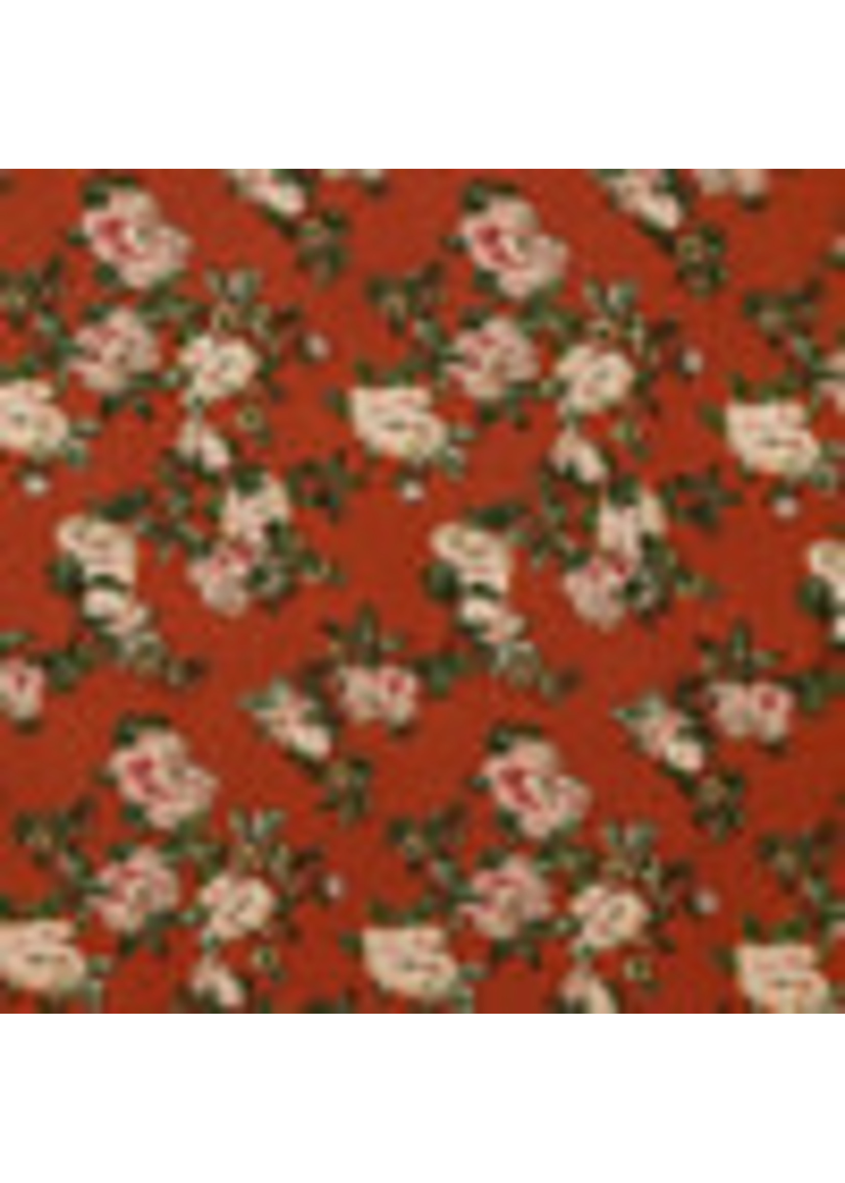 Radiance Foil Print - Rusty red
