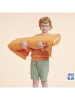 About Blue Fabrics Spons Uni Coral Gold - Badstof