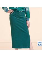 About Blue Fabrics Spons Uni Blue Spruce - Badstof