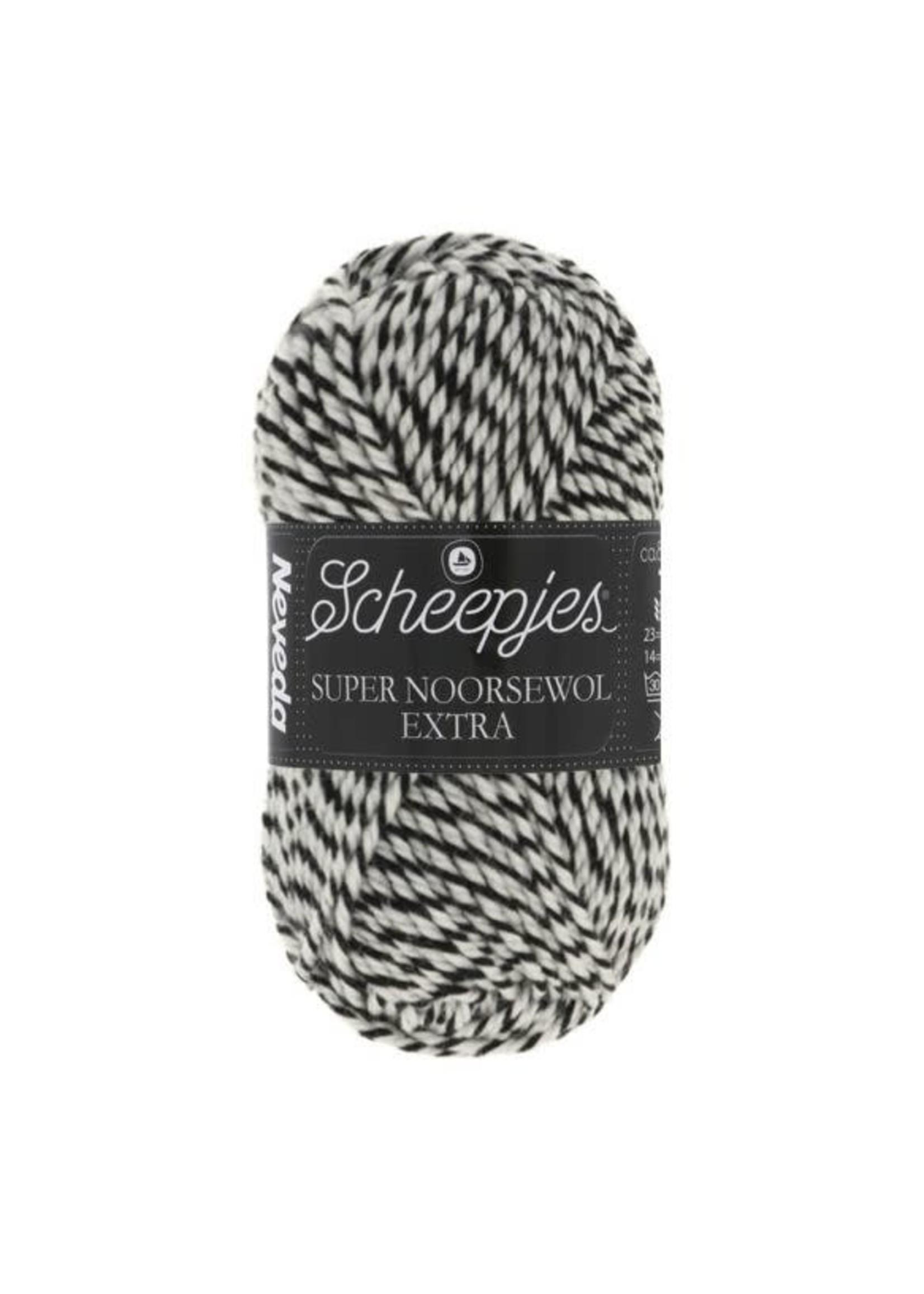 Scheepjes Super Noorse Extra 50gr - 1716  Zwart, wit