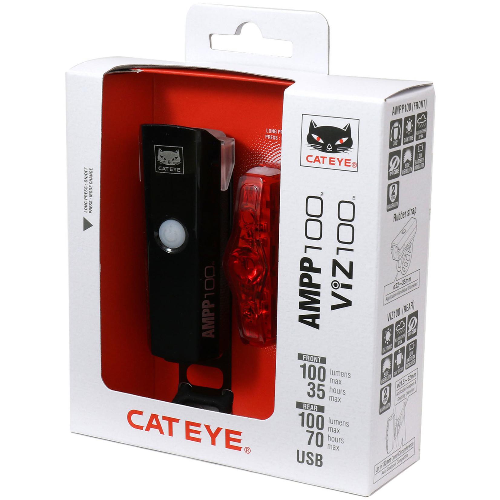 Cateye CATEYE AMPP 100/VIZ 100 LIGHTSET
