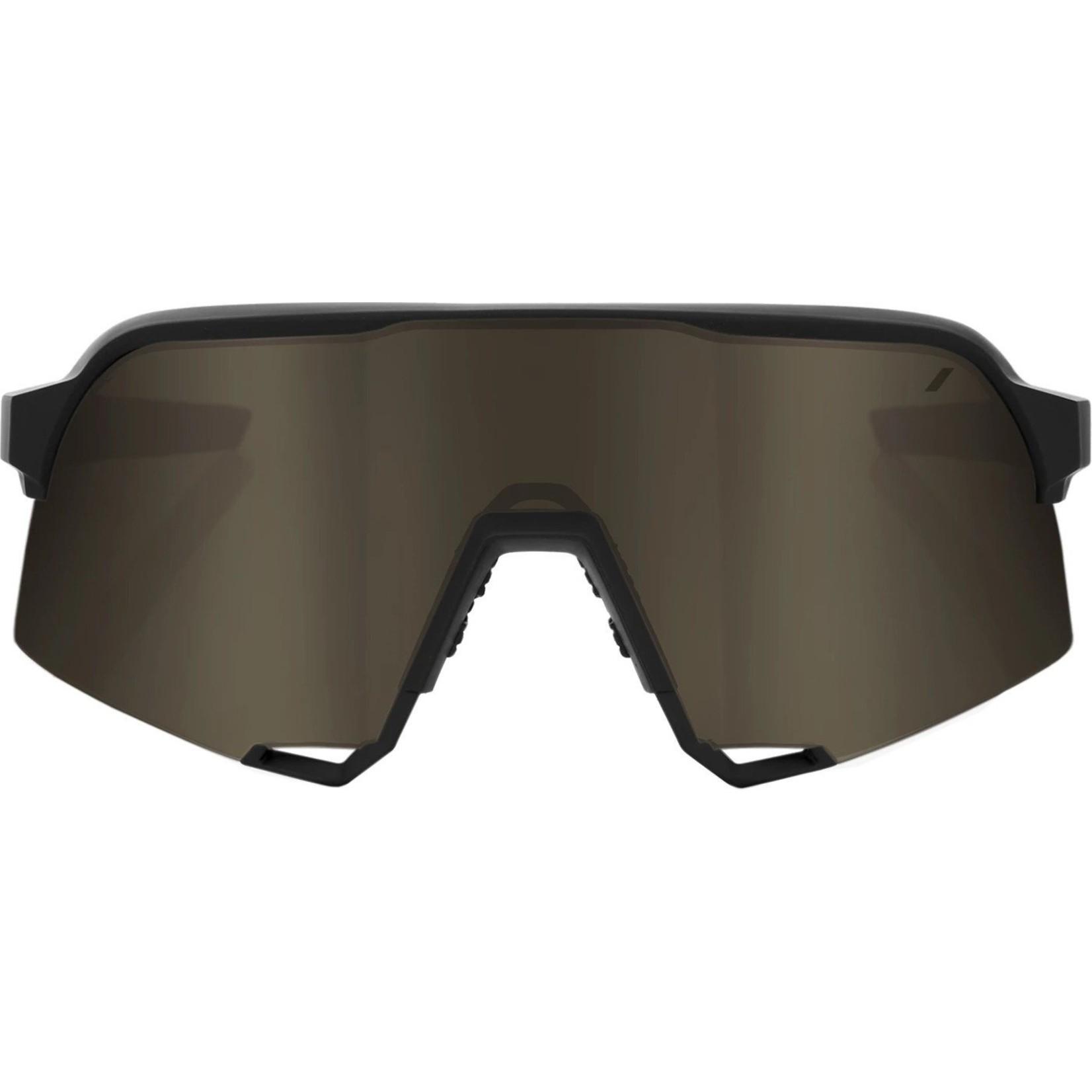 100% S3 GLASSES SOFT BLACK GOLD LENS