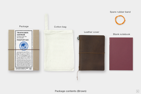 Traveler's TRAVELER'S notebook, Passport size, Leather, Brown
