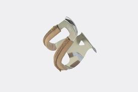 MKS MKS - Half Toe Clips Steel, Leather