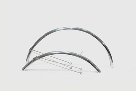 """tokyobike Full Fender / Mudguards, 26""""/650c, (Silver) for CS and Bisou"""