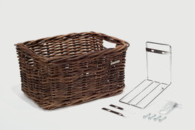 Basil Basil - Dorset wicker basket_ medium natural brown