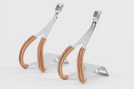 ZYRO / MKS MKS - Toe Clips with Leather, Steel, full clip