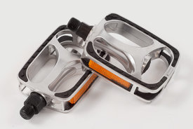 tokyobike VP - Pedals, VP-608, Silver, both side (suitable for leather shoes)