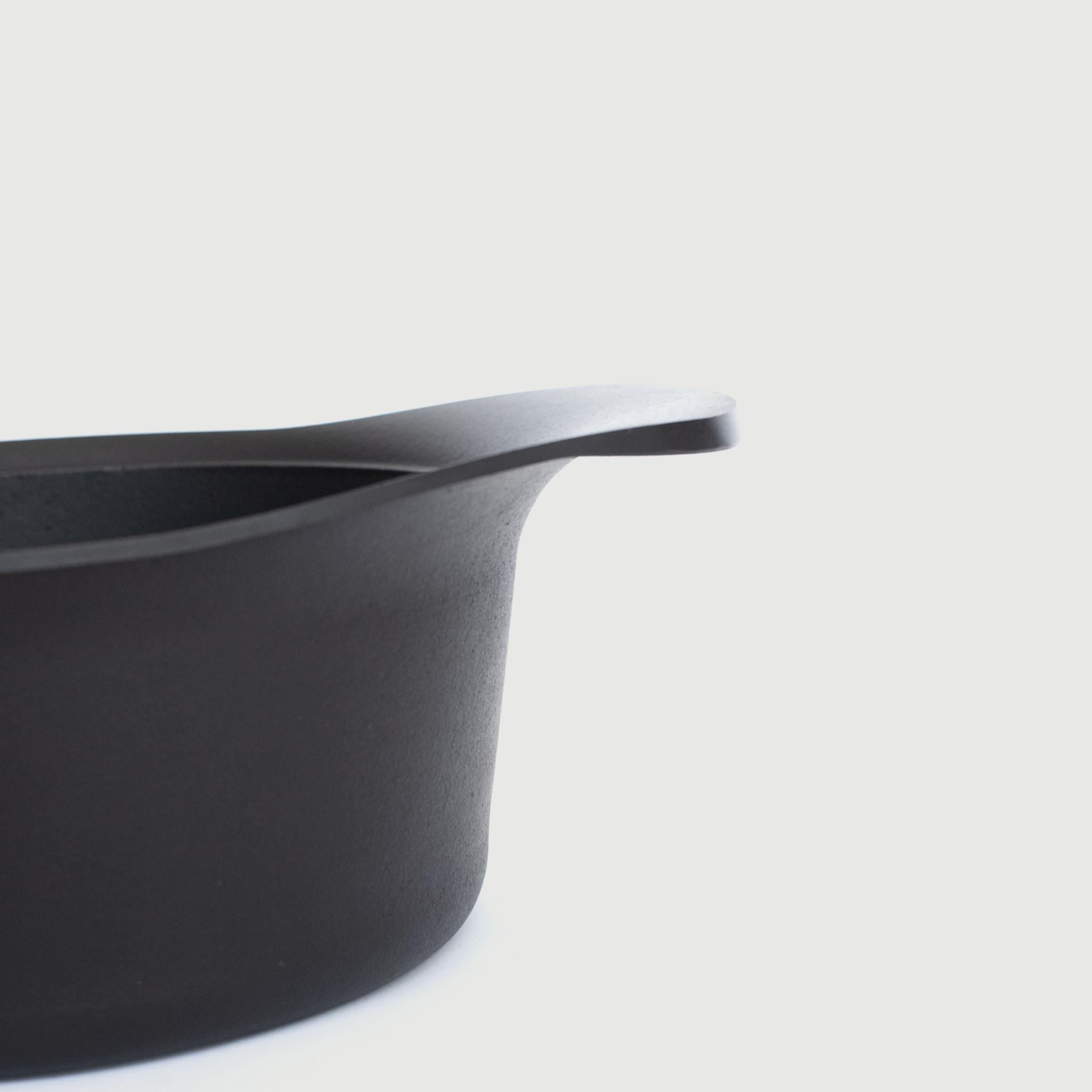 Sori Yanagi Sori Yanagi, Tekki Cast Iron Deep Pan with Lid and Handle, 22cm