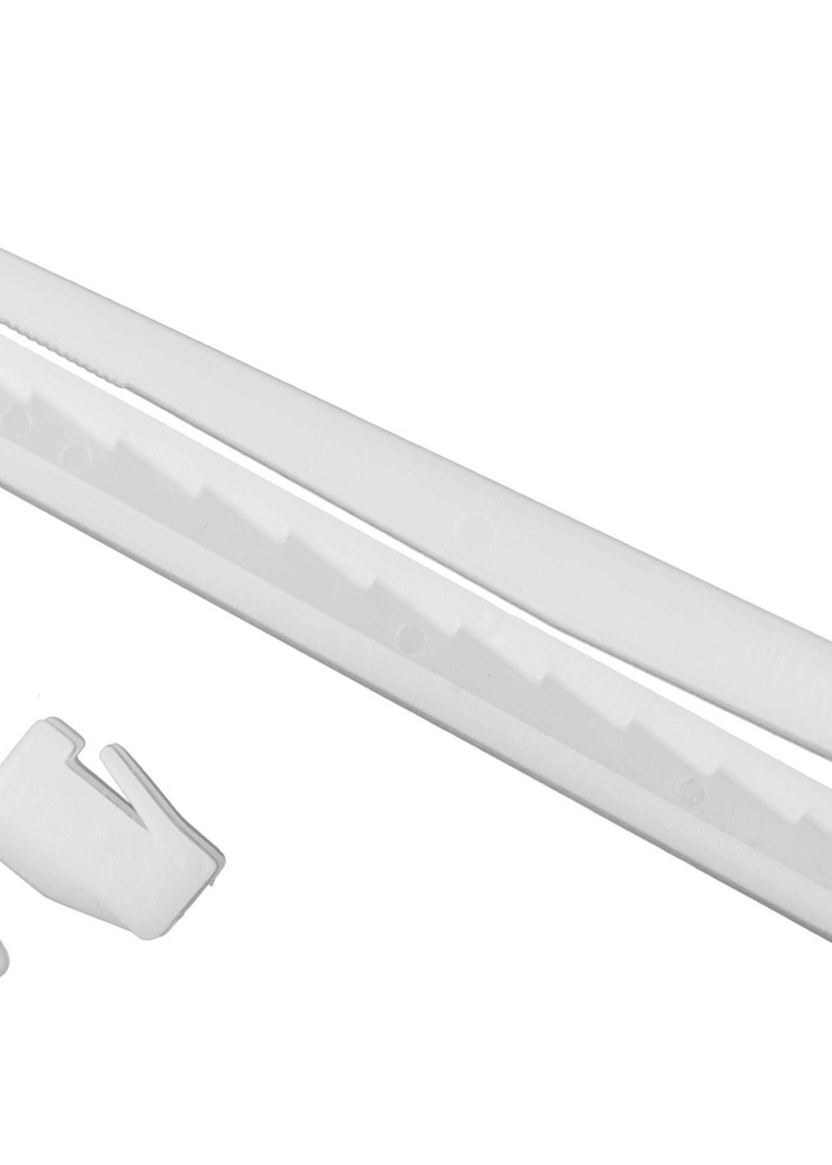 Insteek Verstelbare Gordijnhaak 9cm verpakt per 100 stuks