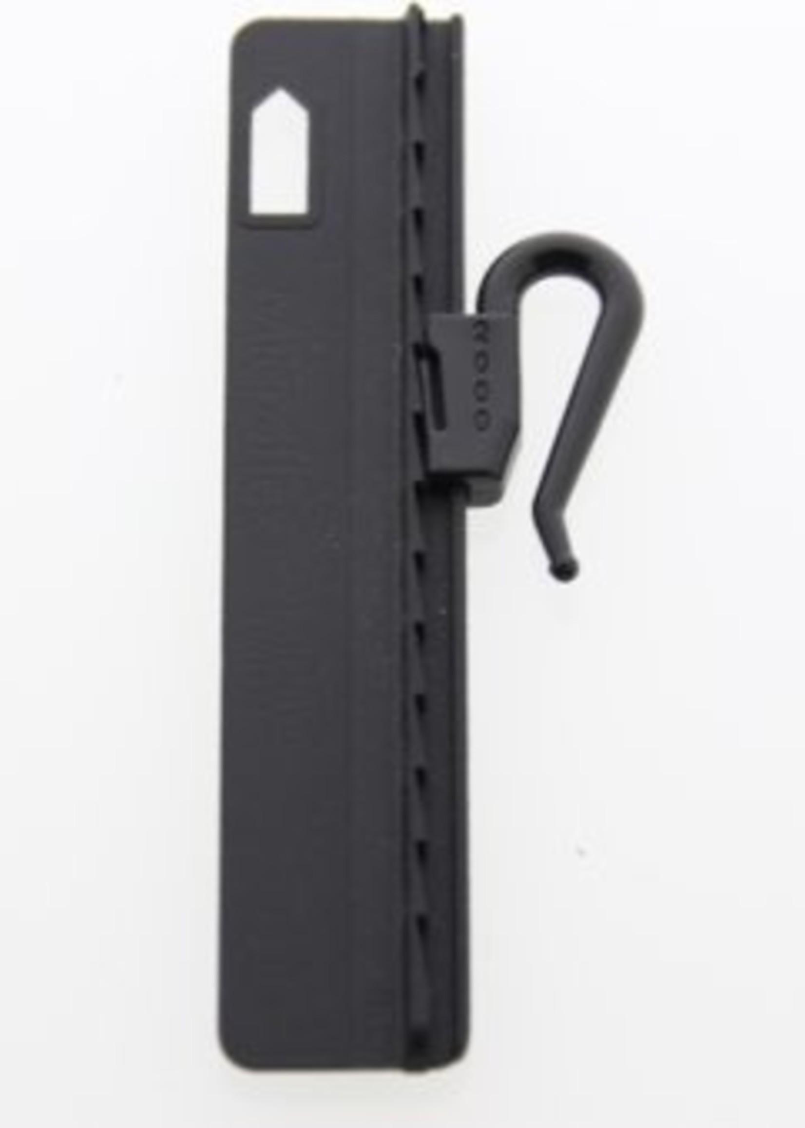 """Microflex Innaai verstelbare gordijnhaak 7,5cm """"ZWART"""" Verpakt per 200 stuks"""