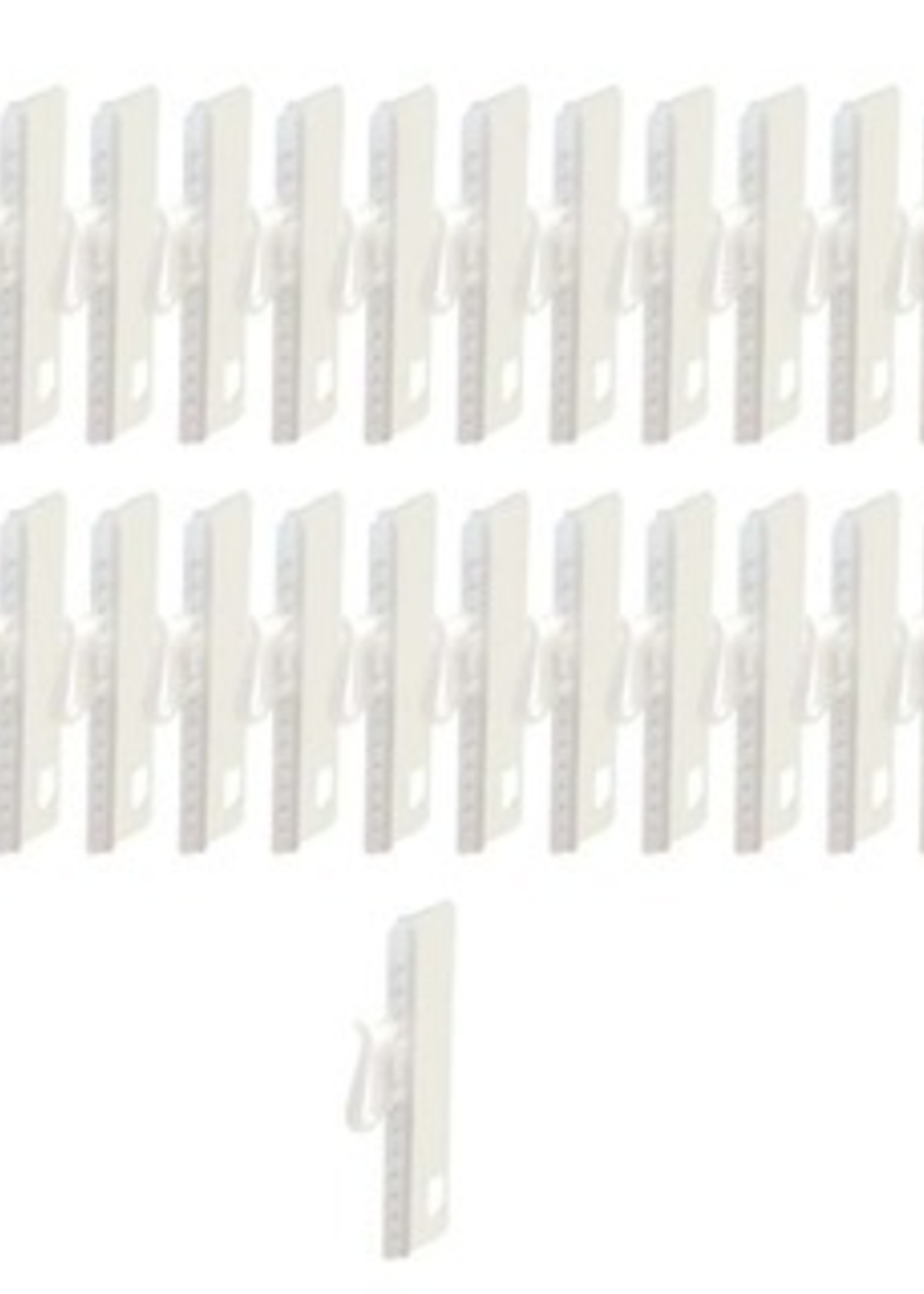 Mobyflex Innaai verstelbare gordijnhaak 7,5cm  verpakt per 20 stuks