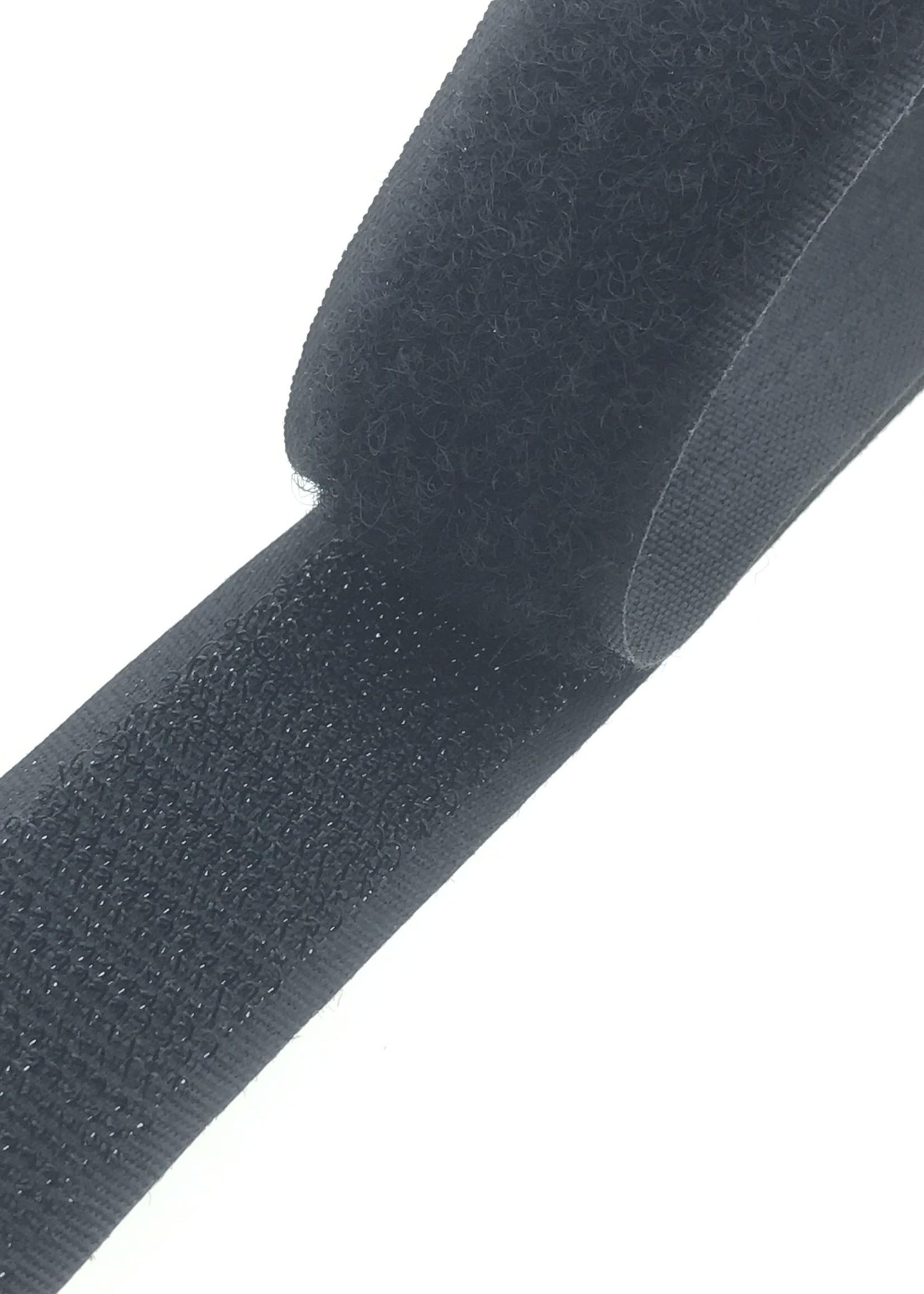 Klittenband naaibaar 2,5cm breed ZWART 25 meter