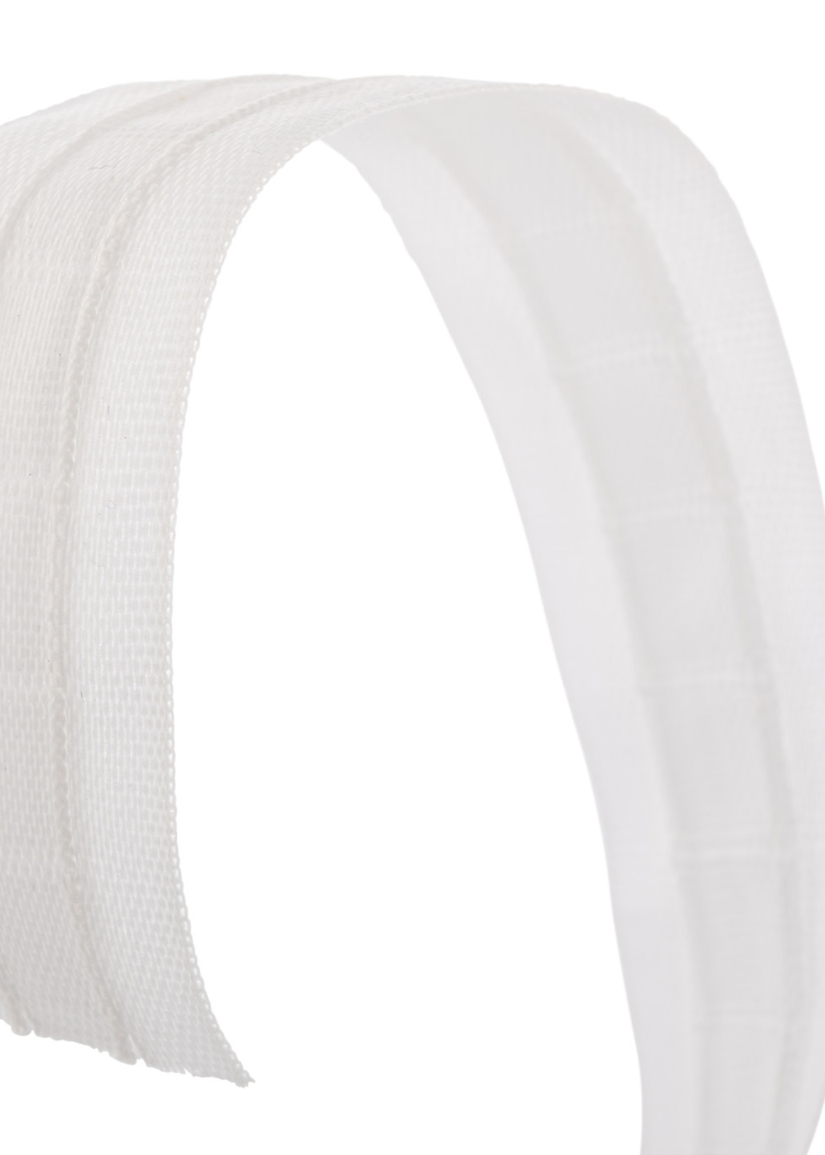 Rimpelband 25 mm breed terlenca wit