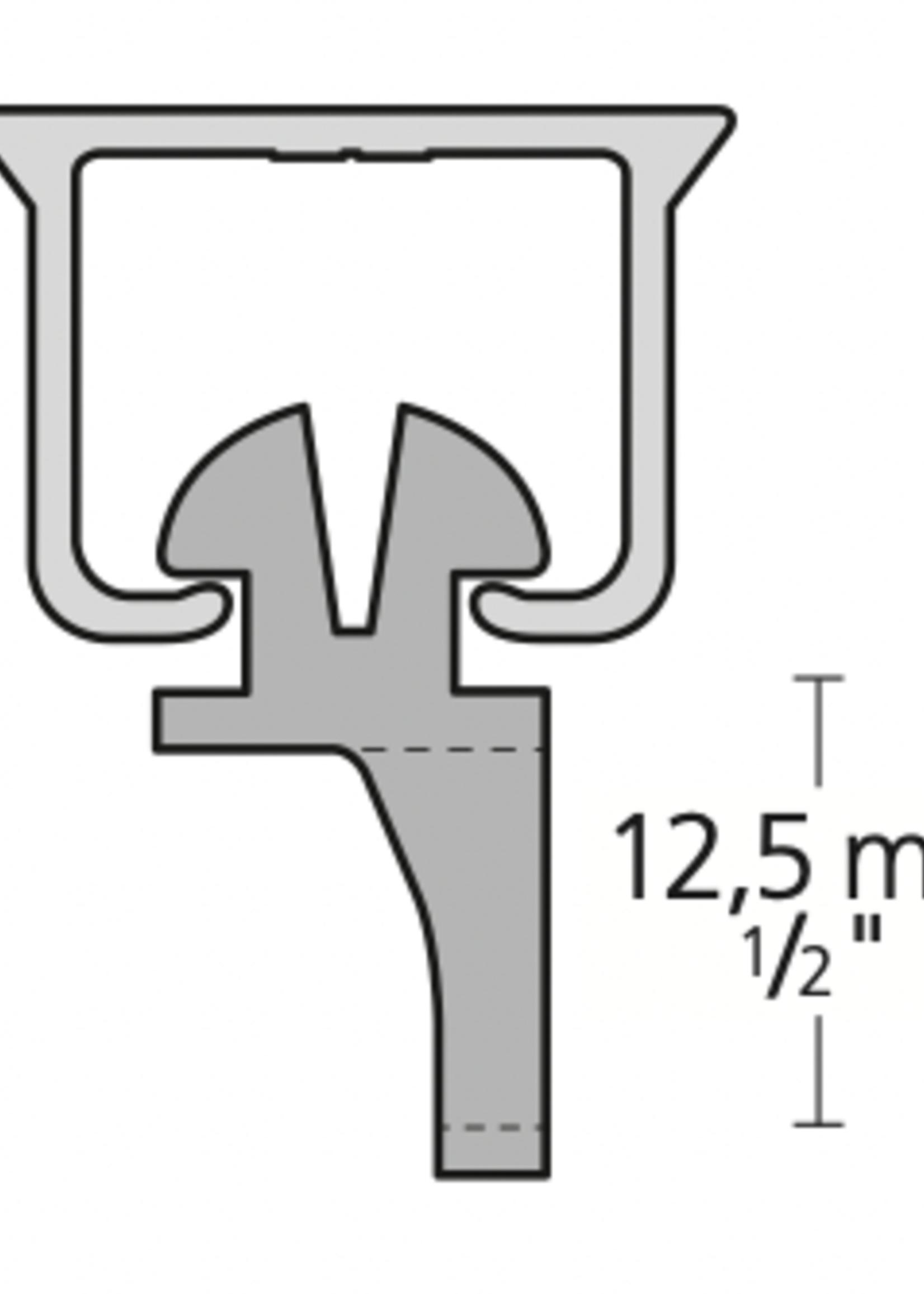 Gordijn Glijder U-Rails (KS) verpakt per 200 stuks