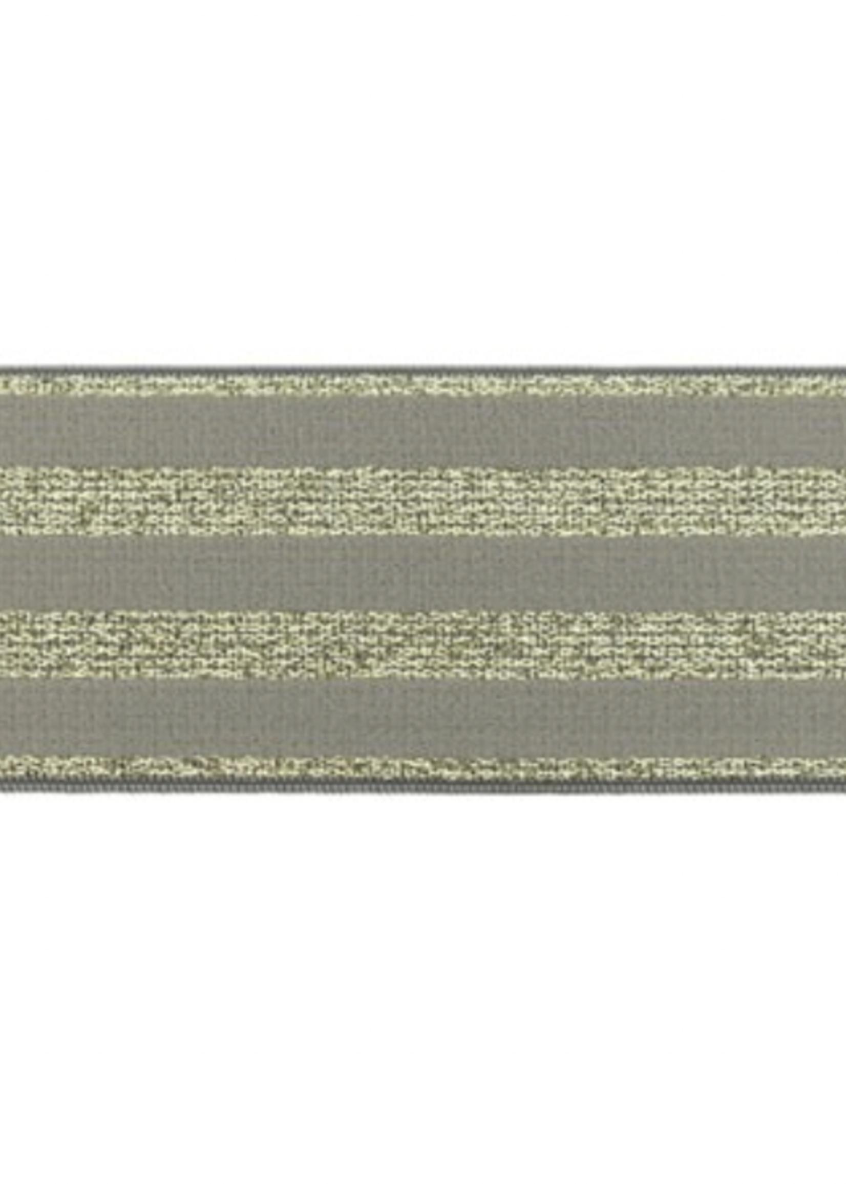 Polyamide Elastiek Lurex Goud 40 mm