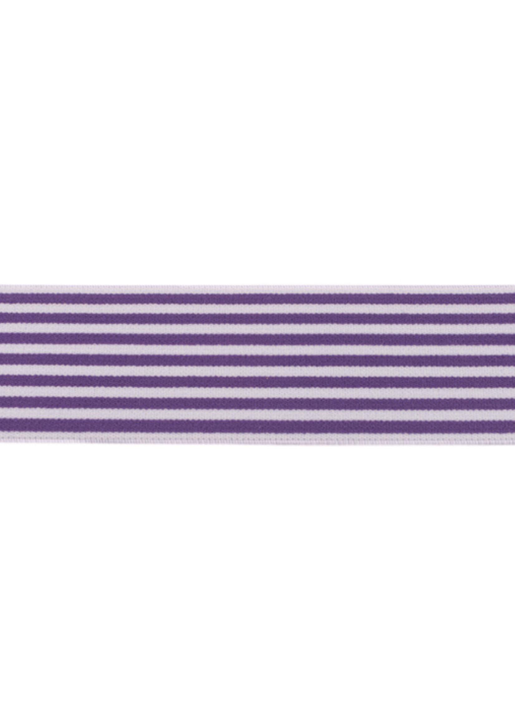 Elastiek 2-Kleurig Streep 40 mm