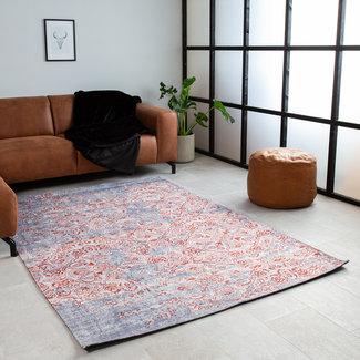 Vloerkleed grijs/rood 160x230