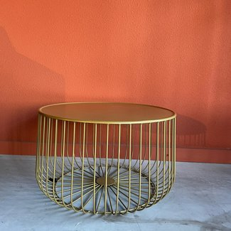 Gouden ronde tafel