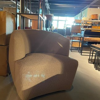 Fauteuil stof taupe