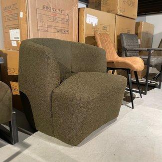 fauteuil groen stof