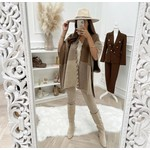 Excuiss Poncho – Knit – Bruin